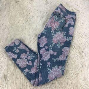 Torrid Floral Rose Skinny Jeans